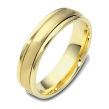 14 Karat 4mm Yellow Gold Designer SPINNING Wedding Band Ring