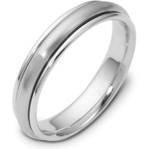 14 Karat White Gold 4mm Designer SPINNING Wedding Band Ring