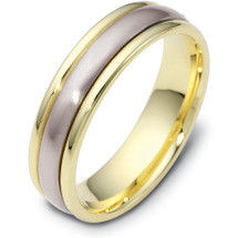 14 Karat 5mm Two-Tone Gold Designer SPINNING Wedding Band Ring