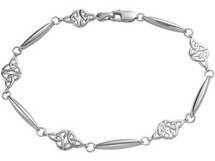 Genuine Sterling Silver Celtic Knot Link Bracelet