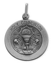 Sterling Silver Large Holy Communion Medallion