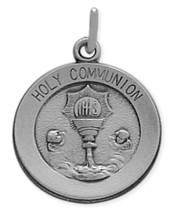 Genuine Sterling Silver Holy Communion Medallion