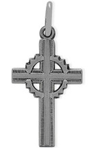Detailed Genuine Sterling Silver Baby Cross