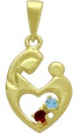 10 Karat Yellow Gold 2 Stone CHOOSE YOUR GEMSTONE Family Pendant