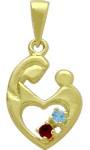 10 Karat Yellow Gold 2 Stone CHOOSE YOUR GEMSTONE Family Pendant