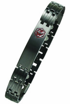 12mm Stainless Steel PVD Coated Medical ID Bracelet