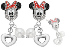 Disney® Minnie Mouse Enamel & Pearl Earrings