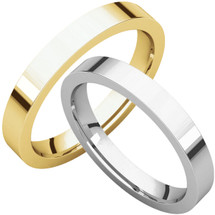 Traditional 3mm Comfort Fit Flat Wedding Band