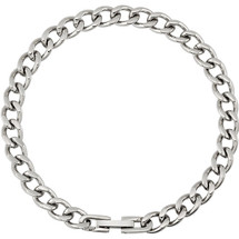 Men's Stainless Steel 7mm Diamond Cut Curb Bracelet