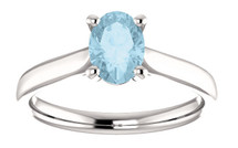 White Gold CHOOSE YOUR OWN Gemstone Ring