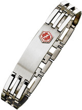Stainless Steel 14mm Link Medical ID Bracelet