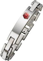 Stainless Steel 11mm Link Medical ID Bracelet