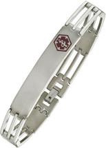 Titanium 10mm Link Medical ID Bracelet