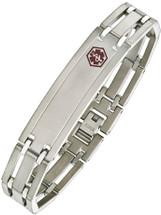 Titanium 13mm Link Medical ID Bracelet