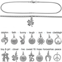 Sterling Silver CHOOSE YOUR CHARM Box Anklet