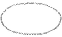 Sterling Silver Cable Style Anklet