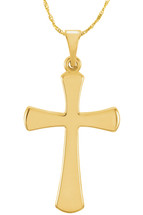 14 Karat Yellow Gold CHOOSE YOUR CROSS SIZE High Polish Cross