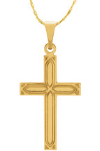 14 Karat Yellow Gold CHOOSE YOUR CROSS SIZE Decorative Cross