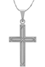 14 Karat White Gold CHOOSE YOUR CROSS SIZE Decorative Cross