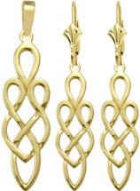 Celtic 10 Karat Yellow Gold Earring & Pendant Set