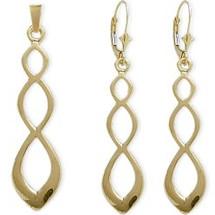 10 Karat Yellow Gold Drop Celtic Earring & Pendant Set