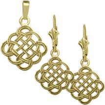 10 Karat Yellow Gold Celtic Knot Pendant & Earring Set