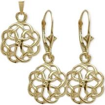 10 Karat Yellow Gold Celtic Knot Earring & Pendant Set