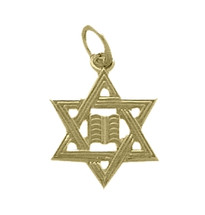 10 Karat Yellow Gold Small Star Of David Jewish Pendant
