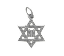 Genuine Sterling Silver Small Star Of David Jewish Pendant
