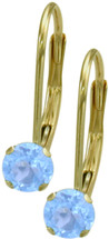 10 Karat Yellow Gold CHOOSE YOUR STONE 4mm Leverback Earrings