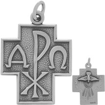 Genuine Sterling Silver Four-Way Cross Pendant