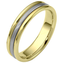 5mm Two-Tone Gold Comfort Fit Wedding Band Ring