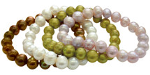 9-10mm Freshwater Cultured Stretch Pearl Bracelet Set