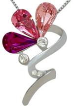 SWAROVSKI® Elements 7 Stone Floral Pendant