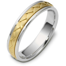 14 Karat Titanium & Yellow Gold 5mm Wedding Band