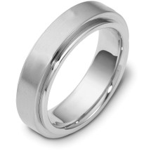 14 Karat White Gold 6mm Designer SPINNING Wedding Band Ring