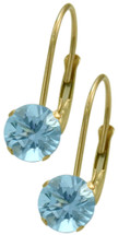 10 Karat Yellow Gold CHOOSE YOUR STONE 5mm Leverback Earrings