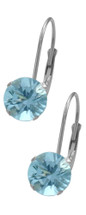 Genuine Sterling Silver CHOOSE YOUR STONE 6mm Leverback Earrings