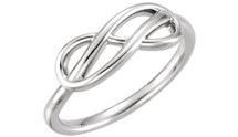 Genuine Sterling Silver Double Infinity Design Ring