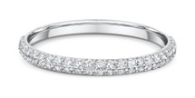 14 Karat White Gold 50 Diamond Cluster Wedding Band