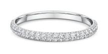 14 Karat White Gold 50 Diamond Cluster Wedding Band
