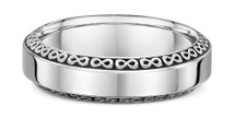 14 Karat White Gold Infinity Design Wedding Band Ring