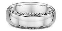 14 Karat White Gold Link Design Wedding Band Ring