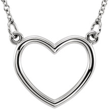 Genuine Sterling Silver Heart Small Necklace