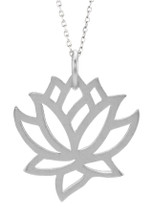 Genuine Sterling Silver Lotus Pendant
