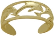10 Karat Yellow Gold Dolphin Toe Ring