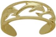 10 Karat Yellow Gold Dolphin Toe Ring