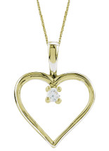 10 Karat Yellow Gold Heart Diamond Pendant