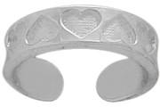 Genuine Sterling Silver Nine Heart Toe Ring