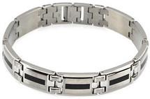 Stainless Steel & Enamel 8 Inch Bracelet